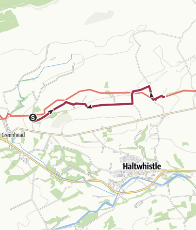 Map / Hadrian's Wall,. Walltown to Cawfield Quarry
