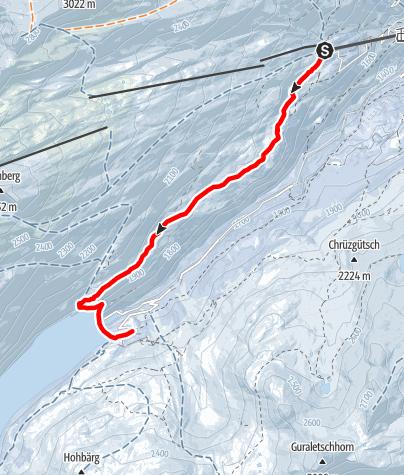 Map / Winterwanderung Gadastatt - Frunt - Zerfreila (Panoramaweg)