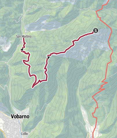 Map / Cecino; S. Alessandro; Dosso Puse. 287 CAI Salò.