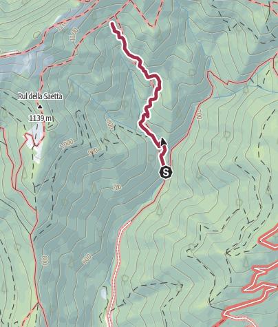 Map / Sentiero 225 CAI Salò - ex 25
