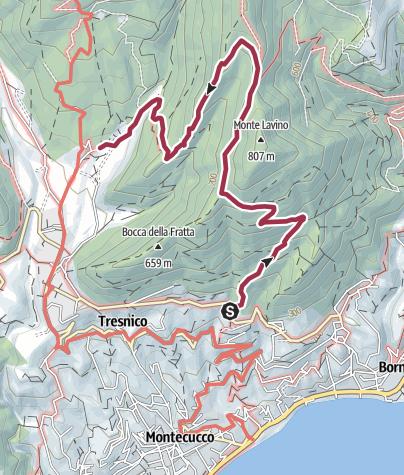 Map / Sentiero 213 CAI Salò - ex 13