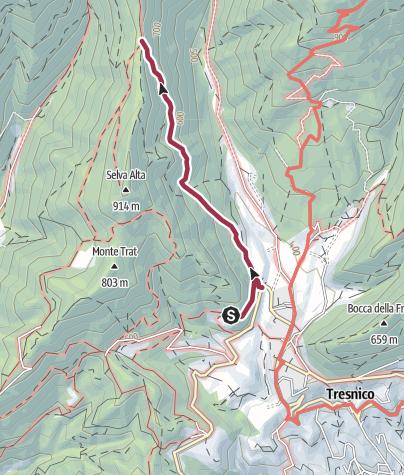 Map / Sentiero 214 CAI Salò - ex 14