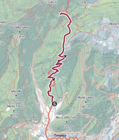 Map / Sentiero 280 CAI Salò - ex 8