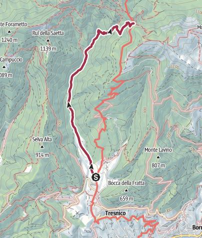 Map / San Michele, Rifugio Pirlo. 1-201 CAI