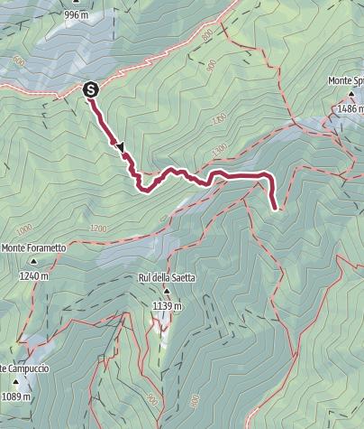 Map / Sentiero 28 CAI Salò.