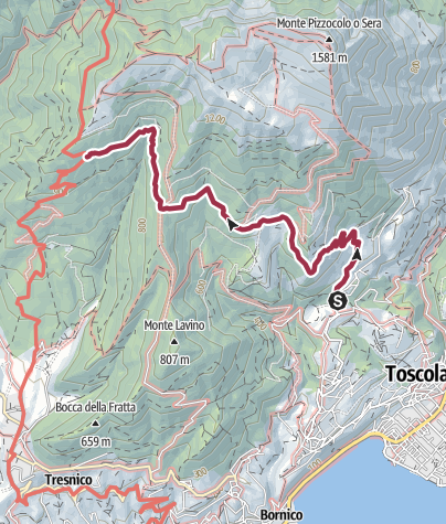 Map / Sentiero 206 CAI Salò - ex 6