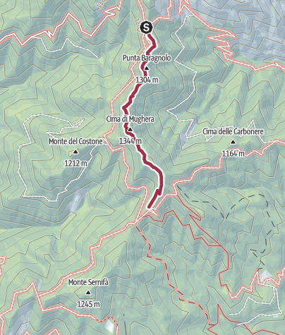 Map / Sentiero 261B CAI Salò