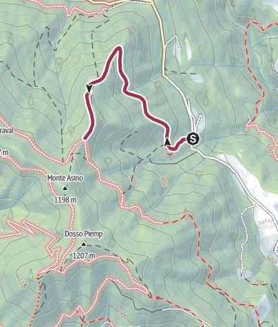 Map / Prato de Bont, Monte Asino. 262 CAI