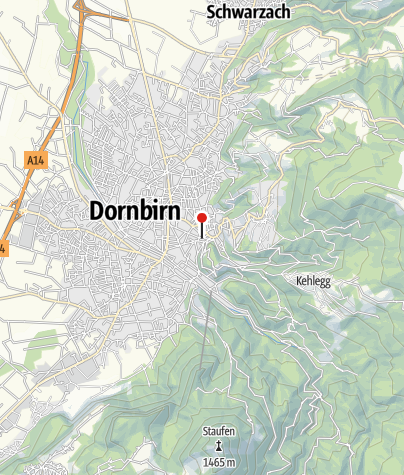 Karte / Dornbirn, Katholische Stadtpfarrkirche Heiliger Sebastian
