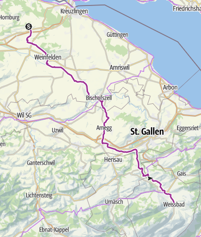 Karte / Lipperswil - Weissbad