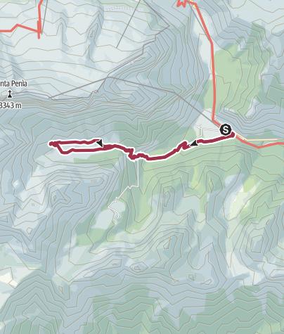 Map / Malga Ciapela - Center of the Dolomites - Falier Mountain Hut