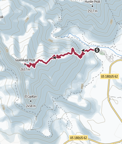 Map / Guadalupe Mountains National Park: Guadalupe Peak