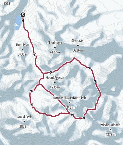 Map / Kings Canyon National Park: Sierra Palisades
