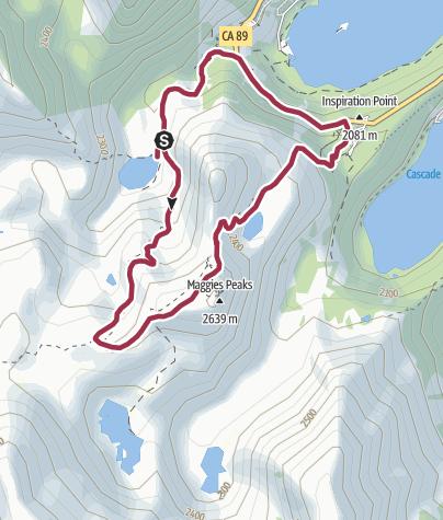 Map / Lake Tahoe, CA: Eagle Lake-Granite Lake Loop