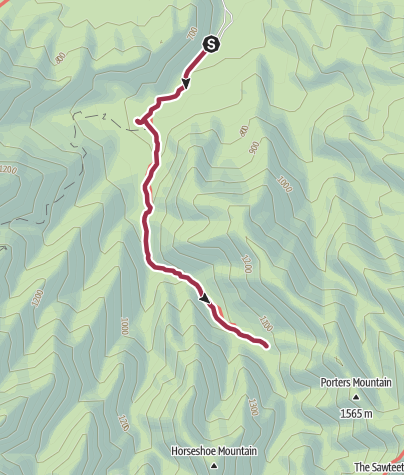 Map / Great Smoky Mountains National Park: Porters Creek Trail