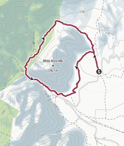 Map / Las Vegas: White Rock Hills Loop