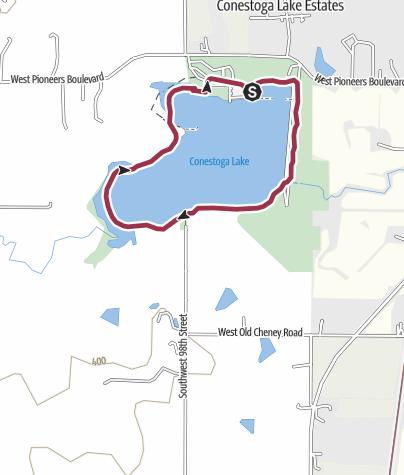 Map / Lincoln, NE: Conestoga State Recreation Area
