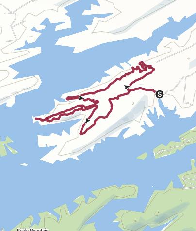 Map / Little Rock, AR: Little Blakely Trail