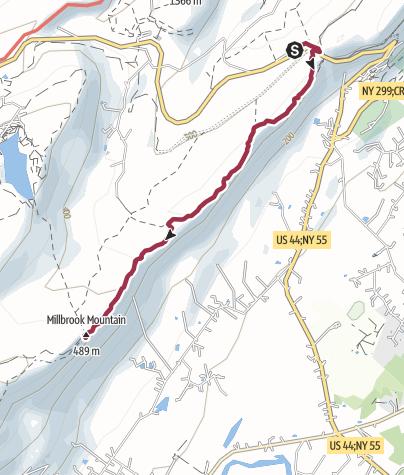 Map / New York City, NY: Millbrook Mountain