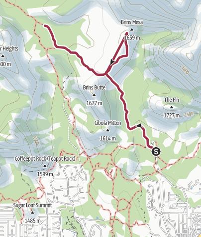Map / Phoenix: Brins Mesa Trail
