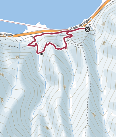 Map / Portland: Hole-in-the-Wall Falls Loop
