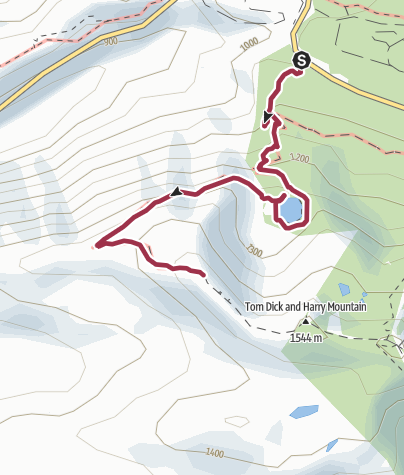Map / Portland, OR: Tom Dick and Harry Mountain via Mirror Lake