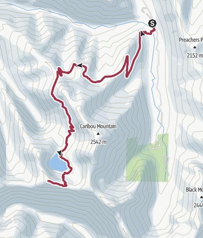 Map / Redding: Caribou Lake