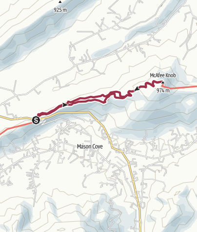 Map / Roanoke, VA: McAfee Knob