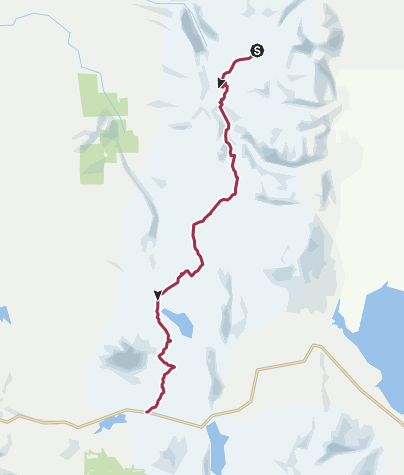Map / Pacific Crest Trail: Best Weekend - Sky Lakes Wilderness, OR