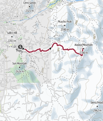 Map / Santa Fe, NM: Atalaya Trail