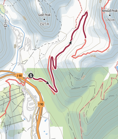 Map / Seattle: PCT North from Snoqualmie Pass