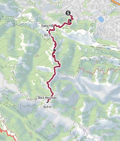Map / San Francisco: Black Mountain Trail