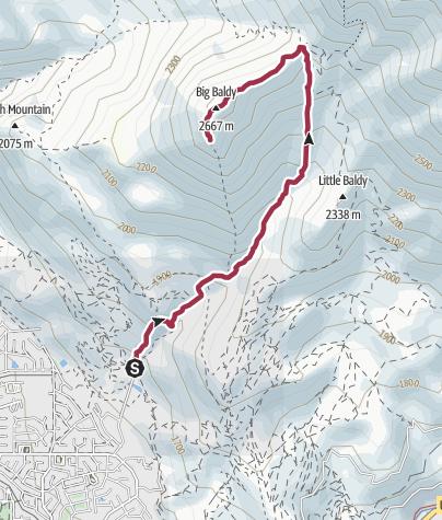 Map / Salt Lake City: Big Baldy
