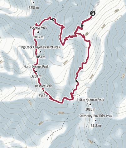 Map / Salt Lake City: Deseret Peak Loop
