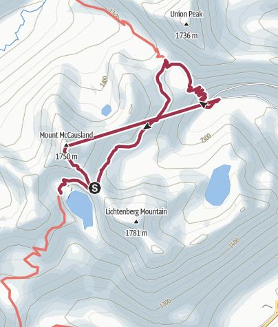 Map / Seattle, WA: Lake Valhalla and Mount McCausland