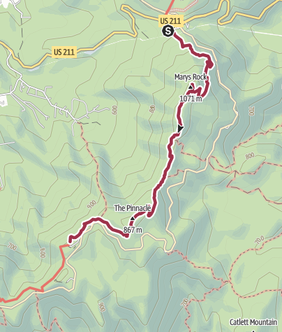 Map / Shenandoah National Park: Thornton Gap to the Pinnacles