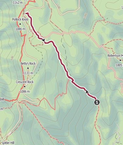 Map / Shenandoah National Park: Whiteoak Canyon Trail