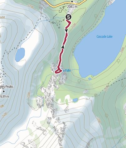 Map / South Lake Tahoe, CA: Cascade Creek Falls