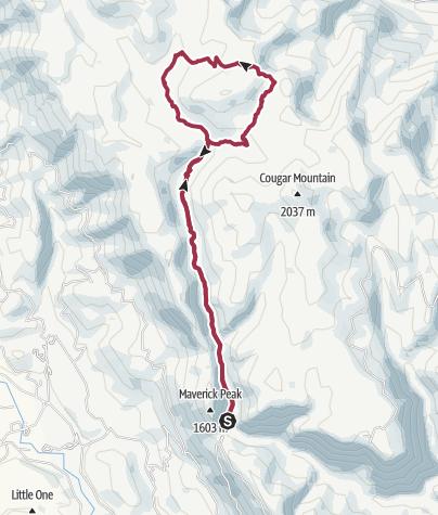 Map / Wenatchee, WA: Whistling Pig Meadow to Blue Creek Meadow Loop
