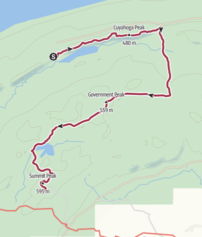 Map / Porcupine Mountains State Park, MI: Lake of the Clouds to Summit Peak
