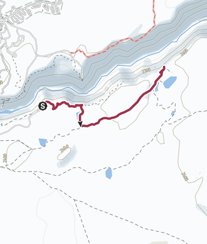 Map / Yellowstone National Park: Ribbon Lake and Silver Cord Cascade via Artist Point