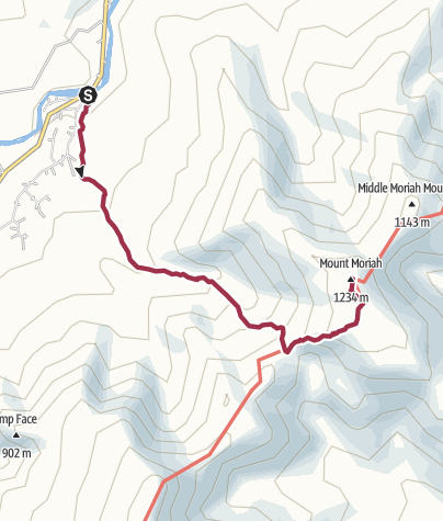 Map / White Mountain National Forest: Mount Moriah via Stony Brook Trail