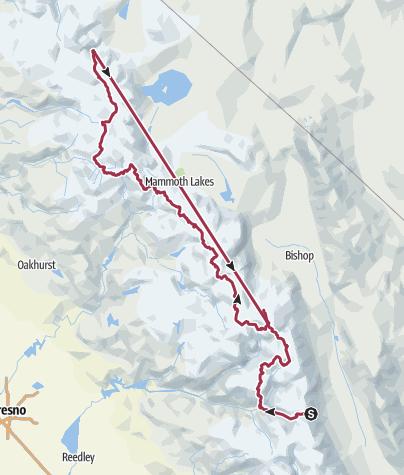 Map / Sierras, CA: Sierra High Route