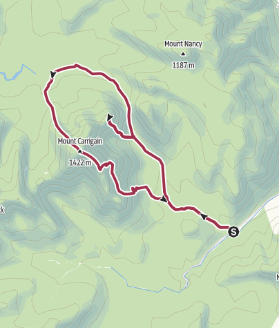 Map / White Mountain National Forest: Mount Carrigain