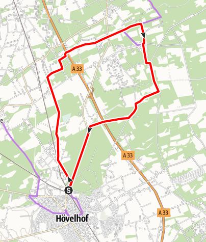 Karte / Hö 1 - Tour durch die Rieger Heide und die Senne