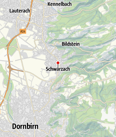 Karte / Schwarzach, Katholische Pfarrkirche Heiliger Sebastian