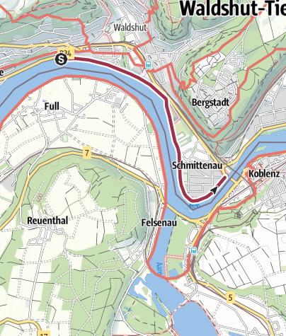 Karte / Waldshut-Tiengen: Rheinpromenade