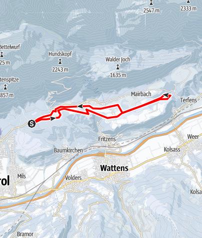 Karte / Loipe Gnadenwald