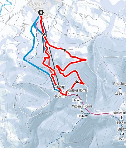 Karte / Rodelbahn am Hörnle