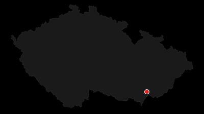 Mapa / Milotice, rezervace Horky, vrchol Náklo a Šidleny
